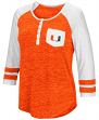 "Miami Hurricanes NCAA Women's ""Inconceivable"" 3/4 Sleeve Henley Shirt"