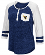 "West Virginia Mountaineers NCAA Women's ""Inconceivable"" 3/4 Sleeve Henley Shirt"