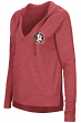 Florida State Seminoles Women's NCAA Never Doubt V-neck Hooded Shirt