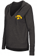 "Iowa Hawkeyes Women's NCAA ""Never Doubt"" V-neck Hooded Shirt"