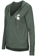 Michigan State Spartans Women's NCAA Never Doubt V-neck Hooded Shirt