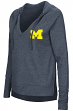 """Michigan Wolverines Women's NCAA """"Never Doubt"""" V-neck Hooded Shirt"""