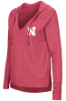 "Nebraska Cornhuskers Women's NCAA ""Never Doubt"" V-neck Hooded Shirt"