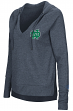 "Notre Dame Fighting Irish Women's NCAA ""Never Doubt"" V-neck Hooded Shirt"
