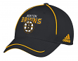 "Boston Bruins Adidas NHL ""Piping Fade"" Structured Adjustable Hat"