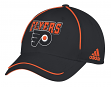 "Philadelphia Flyers Adidas NHL ""Piping Fade"" Structured Adjustable Hat"
