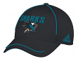 "San Jose Sharks Adidas NHL ""Piping Fade"" Structured Adjustable Hat"