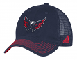 "Washington Capitals Adidas NHL ""Face-Off"" Slouch Flex Fitted Mesh Back Hat"