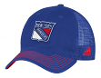 "New York Rangers Adidas NHL ""Face-Off"" Slouch Flex Fitted Mesh Back Hat"
