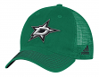 "Dallas Stars Adidas NHL ""Face-Off"" Slouch Flex Fitted Mesh Back Hat"