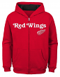 "Detroit Red Wings Youth NHL ""Shoot & Score"" Full Zip Hooded Sweatshirt"