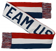 """Team USA Olympic """"Emblem"""" Official Red White & Blue Knit Scarf"""