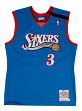 Allen Iverson Philadelphia 76ers Mitchell & Ness Authentic 1999 Blue NBA Jersey