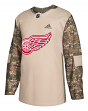 Detroit Red Wings Adidas NHL Edge Camouflage Pre-Game Authentic Warm Up Jersey