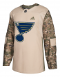 St. Louis Blues Adidas NHL Edge Camouflage Pre-Game Authentic Warm Up Jersey