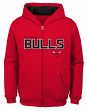 "Chicago Bulls Youth NBA ""Rebound"" Full Zip Hooded Sweatshirt"