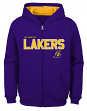 "Los Angeles Lakers Youth NBA ""Rebound"" Full Zip Hooded Sweatshirt"