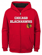 "Chicago Blackhawks Youth NHL ""Shoot & Score"" Full Zip Hooded Sweatshirt"