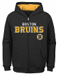 "Boston Bruins Youth NHL ""Shoot & Score"" Full Zip Hooded Sweatshirt"