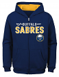 "Buffalo Sabres Youth NHL ""Shoot & Score"" Full Zip Hooded Sweatshirt"