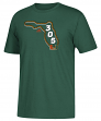 "Miami Hurricanes Adidas NCAA ""305 Chain"" Men's Short Sleeve T-Shirt"