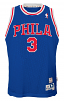 Allen Iverson Philadelphia 76ers NBA Youth Throwback Swingman Jersey - Blue