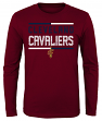 "Cleveland Cavaliers Youth NBA ""Ultra"" Long Sleeve Premium Dual Blend T-Shirt"
