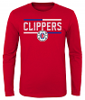 "Los Angeles Clippers Youth NBA ""Ultra"" Long Sleeve Premium Dual Blend T-Shirt"