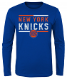 "New York Knicks Youth NBA ""Ultra"" Long Sleeve Premium Dual Blend T-Shirt"