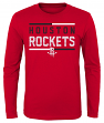 "Houston Rockets Youth NBA ""Ultra"" Long Sleeve Premium Dual Blend T-Shirt"