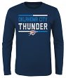 "Oklahoma City Thunder Youth NBA ""Ultra"" Long Sleeve Premium Dual Blend T-Shirt"