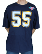"""Junior Seau San Diego Chargers Mitchell & Ness NFL Men's """"Player""""  S/S T-Shirt"""