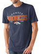 "Denver Broncos NFL G-III ""Playoff"" Men's Dual Blend S/S T-shirt - Navy"