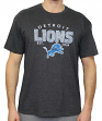 "Detroit Lions NFL G-III ""Playoff"" Men's Dual Blend S/S T-shirt - Black"