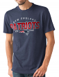 "New England Patriots NFL G-III ""Playoff"" Men's Dual Blend S/S T-shirt - Navy"