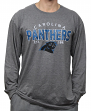 "Carolina Panthers NFL G-III ""Playoff"" Men's Dual Blend L/S T-shirt - Graphite"