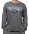 "Oakland Raiders NFL G-III ""Playoff"" Men's Dual Blend L/S T-shirt - Graphite"