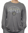 "New Orleans Saints NFL G-III ""Playoff"" Men's Dual Blend L/S T-shirt - Graphite"