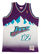 John Stockton Utah Jazz Mountains Mitchell & Ness Swingman HWC Jersey - Purple