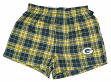 "Green Bay Packers NFL ""Roster"" Men's Cotton Flannel Boxer"