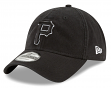 "Pittsburgh Pirates New Era MLB 9Twenty ""Core Classic Twill"" Adjustable Black Hat"