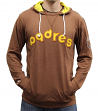 "San Diego Padres Mitchell & Ness MLB ""Away Team"" Long Sleeve Hooded Men's Shirt"