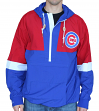 "Chicago Cubs Mitchell & Ness MLB Men's ""Splitter"" 1/4 Zip Pullover Wind Jacket"