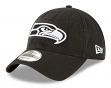 "Seattle Seahawks New Era NFL 9Twenty ""Core Classic Twill"" Adjustable Black Hat"