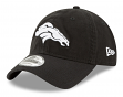 "Denver Broncos New Era NFL 9Twenty ""Core Classic Twill"" Adjustable Black Hat"