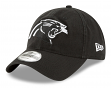 "Carolina Panthers New Era NFL 9Twenty ""Core Classic Twill"" Adjustable Black Hat"