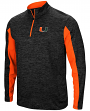 "Miami Hurricanes NCAA ""Turn Two"" 1/4 Zip Pullover Men's Wind Shirt"