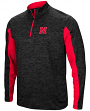 "Nebraska Cornhuskers NCAA ""Turn Two"" 1/4 Zip Pullover Men's Wind Shirt"