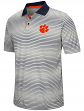 "Clemson Tigers NCAA ""Number One"" Men's Performance Striped Polo Shirt"