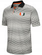 "Miami Hurricanes NCAA ""Number One"" Men's Performance Striped Polo Shirt"